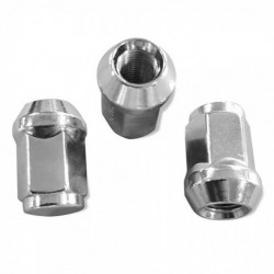 Conical Nut 14x1.5 Hex 19mm lg 35mm chrome