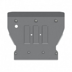 ROCKALU skid plate for engine bay aluminium 4 mm punched