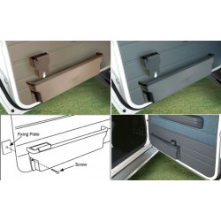 MOULDED DOOR POCKETS (PR) GREY