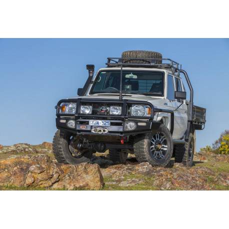Deluxe Winch bar ARB Toyota LC70 76/78/79 >07 ac elarg.